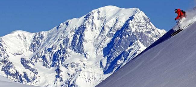 La Plagne: esquiant als Alps Francesos
