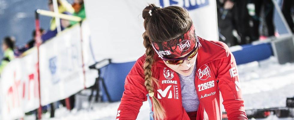 Clàudia Sabata, una campiona d'esquí que somia ser infermera